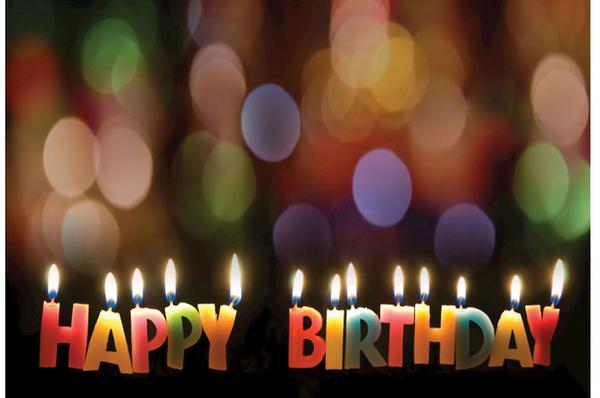 Happy Birthday Candles Postcard (Pkg of 25)