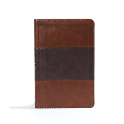 CSB Ultrathin Reference Bible, Saddle Brown Leathertouch, Indexed