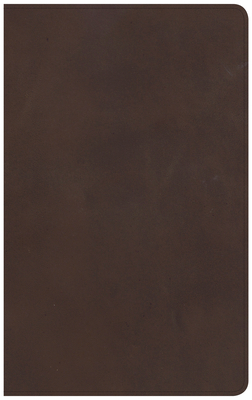 CSB Ultrathin Reference Bible, Brown Genuine Leather