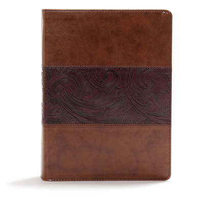 CSB Study Bible, Mahogany Leathertouch, Indexed