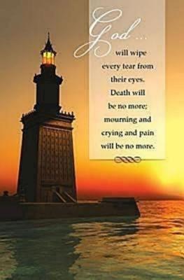 Lighthouse Funeral Bulletin (Pkg of 50)