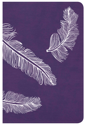 CSB Compact Ultrathin Bible for Teens, Plum Feathers Leathertouch