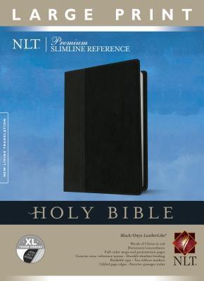 Premium Slimline Reference Bible-NLT-Large Print