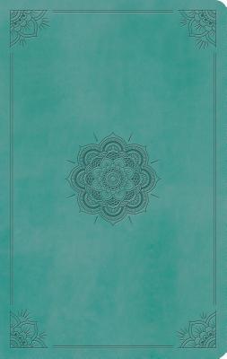 ESV Large Print Value Thinline Bible (Trutone, Turquoise, Emblem Design)