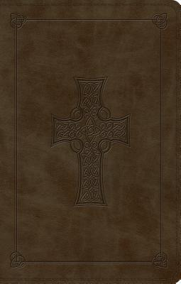 Large Print Value Thinline Bible-ESV-Cross Design