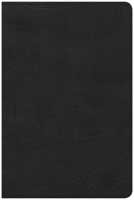 CSB Large Print Personal Size Reference Bible, Black Leathertouch, Indexed