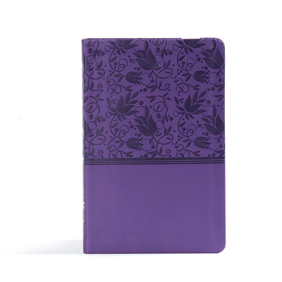 CSB Ultrathin Reference Bible, Purple Leathertouch, Indexed