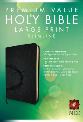 Premium Value Slimline Bible-NLT-Large Print Crown