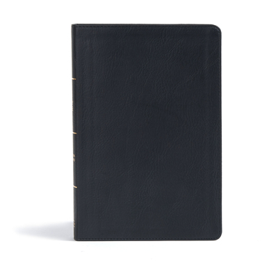 CSB Giant Print Reference Bible, Black Leathertouch