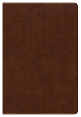 CSB Large Print Ultrathin Reference Bible, British Tan Leathertouch, Black Letter Edition, Indexed