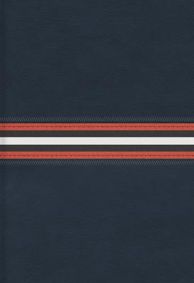 Rvr 1960 Biblia Letra Grande Tamano Manual, Azul Marino Piel Fabricada Edicion Con Indice y Cierre
