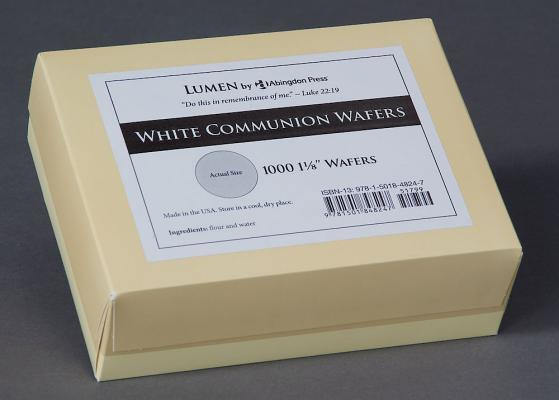 Communion Wafers, White (Box of 1000): Lumen by Abingdon Press