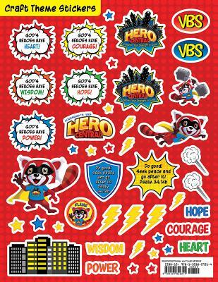 Vacation Bible School Vbs Hero Central Craft Theme Stickers (Pkg of 12): Discover Your Strength in God!