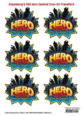 Vacation Bible School 2017 Vbs Hero Central Iron-On Transfers (Pkg of 6): Discover Your Strength in God!