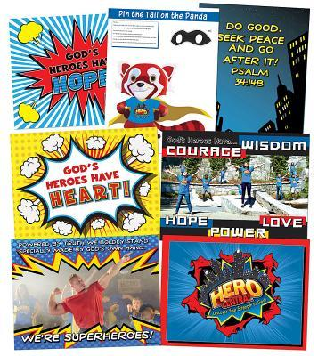 Vacation Bible School 2017 Vbs Hero Central Decorating Poster Pak: Discover Your Strength in God!