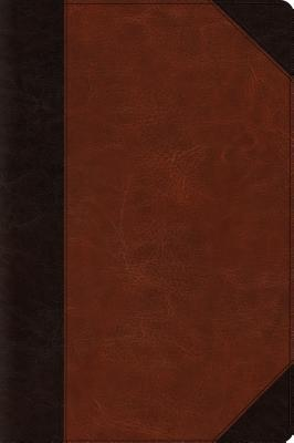 ESV Large Print Bible (Trutone, Brown/Cordovan, Portfolio Design)