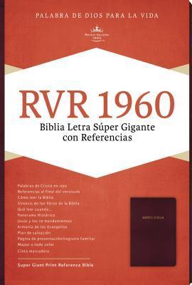 Rvr 1960 Biblia Letra Super Gigante, Borgona Imitacion Piel
