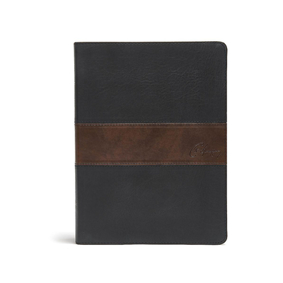 CSB Spurgeon Study Bible, Black/Brown Leathertouch(r)