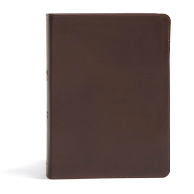 CSB She Reads Truth Bible, Brown Genuine Leather, Indexed