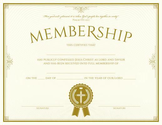 Membership Certificate (Pk of 6) - Premium, Foil Embossed