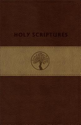 TLV Personal Size Giant Print Reference, Holy Scriptures, Brown/Sand LeatherTouch