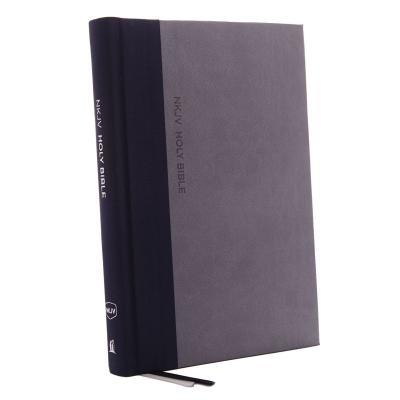 NKJV, Thinline Bible, Large Print, Cloth Over Board, Gray/Blue, Red Letter Edition