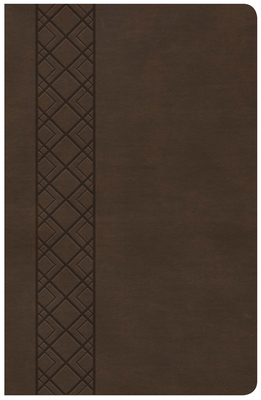 CSB Ultrathin Reference Bible, Value Edition, Brown Leathertouch