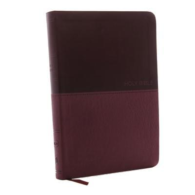 NKJV, Value Thinline Bible, Large Print, Imitation Leather, Burgundy, Red Letter Edition