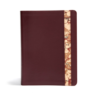 CSB Spurgeon Study Bible, Burgundy/Marble Leathertouch(r)