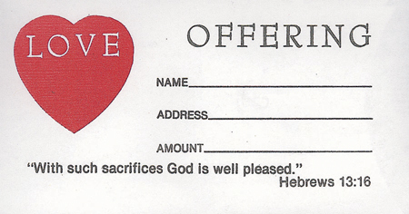 OFFERING ENVELOPE LOVE OFFERIN