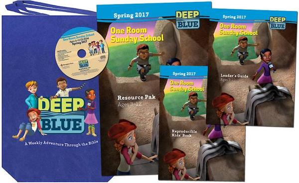 Deep Blue One Room Sunday School Kit Spring 2017: Ages 3-12