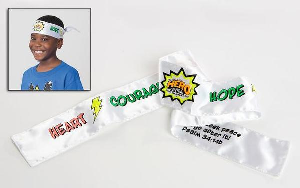 Vacation Bible School 2017 Vbs Hero Central Colorize-Your-Own Tie-On Headbands (Pkg of 12): Discover Your Strength in God!
