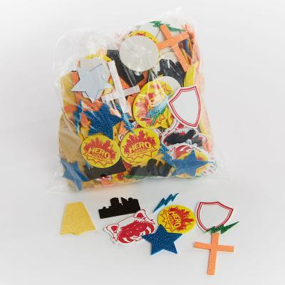 Vacation Bible School Vbs Hero Central Stay Put Glitter Stickers: Discover Your Strength in God!