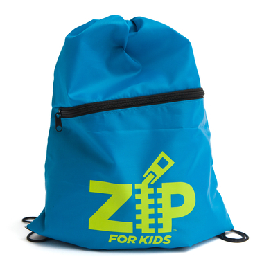 Zip for Kids: Zip Drawstring Bag