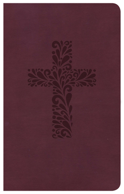CSB Pocket Gift Bible, Burgundy Leathertouch