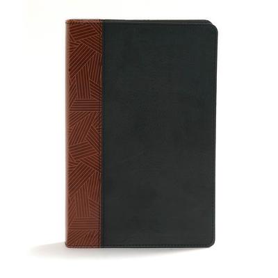CSB Rainbow Study Bible, Black/Tan Leathertouch