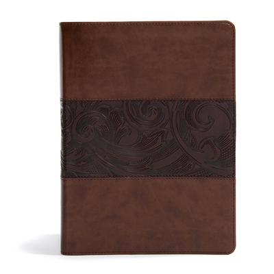 CSB Study Bible, Large Print Edition, Mahogany Leathertouch