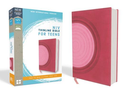 NIV, Thinline Bible for Teens, Imitation Leather, Pink, Red Letter Edition