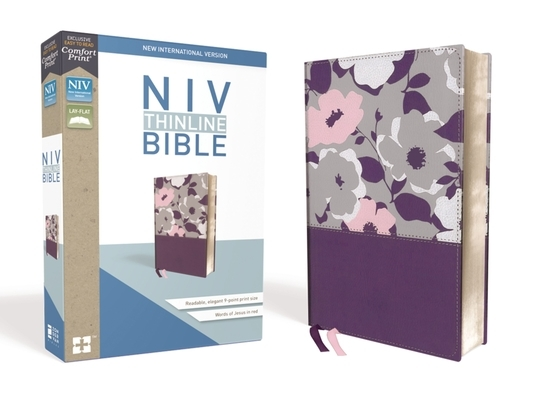 NIV, Thinline Bible, Imitation Leather, Purple, Red Letter Edition