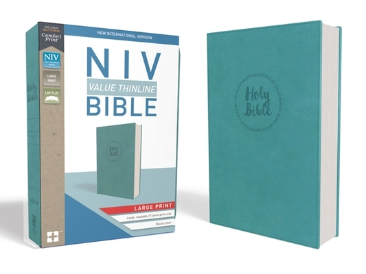 NIV, Value Thinline Bible, Large Print, Imitation Leather, Blue