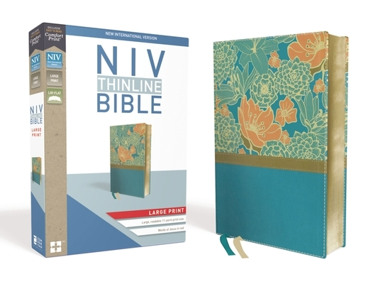 NIV, Thinline Bible, Large Print, Imitation Leather, Blue, Red Letter Edition