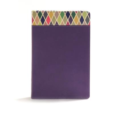 CSB Rainbow Study Bible, Purple Leathertouch