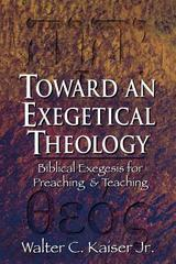 Toward an Exegetical Theology (paper)