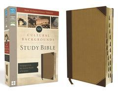 NIV CULTURAL BACKGROUNDS STUDY BIBLE IDX STANDARD PRINT BROWN/TAN