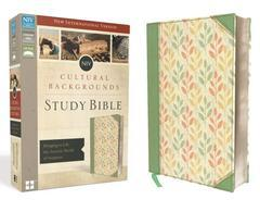 NIV CULTURAL BACKGROUNDS STUDY BIBLE STANDARD PRINT SAGE/LEAVES