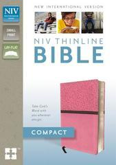 NIV THINLINE BIBLE COMPACT SMALL PRINT PINK/BROWN