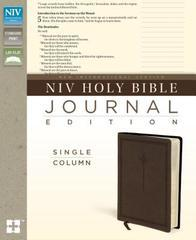 NIV HOLY BIBLE JOURNAL EDITION SINGLE COLUMN STANDARD PRINT BROWN