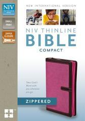 NIV THINLINE BIBLE COMPACT ZIPPERED ORCHID/CHOCOLATE