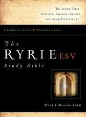 Ryrie ESV Study Bible Bonded Leather Burgundy Red Letter Indexed (Ryrie