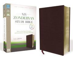 NIV Zondervan Study Bible, Bonded Leather, Burgundy: Built on the Truth of